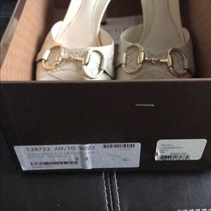 Gucci mystic white shoes size 8